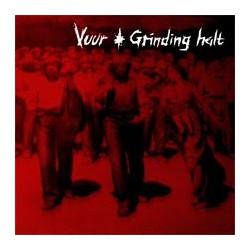 GRINDING HALT / VUUR - Split LP